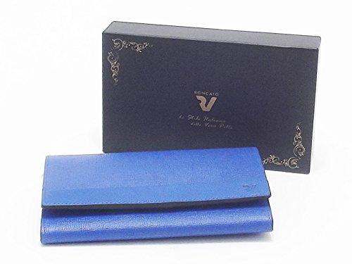 Roncato portafoglio donna, Antalia 411602, orizzontale pelle bluette