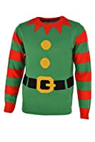 Green Elf Knitted Christmas Jumper