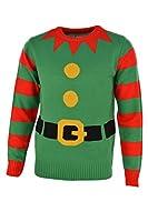 Green Elf Knitted Christmas Jumper