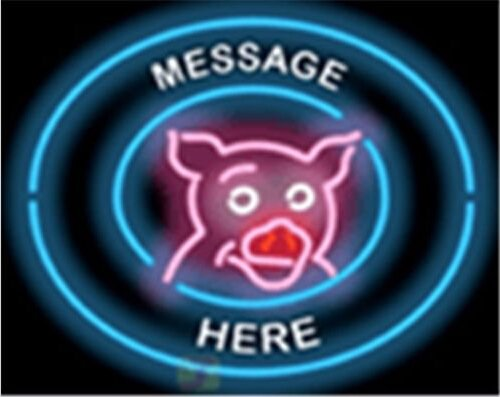 "New Custom Message Pig Here Barbeque BBQ Neon Light Sign Display Beer Bar Pub Store Club Garrag Dealers Windows Garage Wall Sign 17w""x 14""h"
