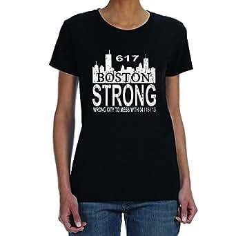 Women 39 s boston strong marathon black t shirt for Boston strong marathon t shirts