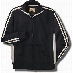 J. America Vintage Track Jacket in Black/White - Medium