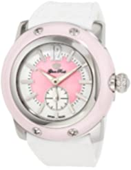 Glam Rock Women's GRD30010 Miami Pink and White Dial White Silicone Watch