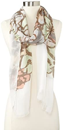 Collection XIIX Women's Forget Me Not Floral Scarf, Champagne Ice, One Size