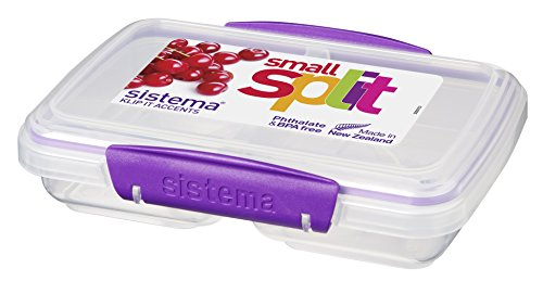 Sistema Aufbewahrungsbehälter für Lebensmittel, mit Unterteilung, Kunststoff, 350ml, verschiedene Farben
