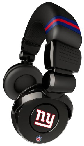Ihip Official Nfl - New York Giants - Noise Isolation Pro Dj Quality Headphone With Detachable Cord And Built-In Microphone With Volume Control, Nfh26Nyg