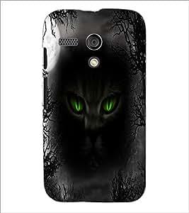 PrintDhaba Cat Eyes D-4005 Back Case Cover for MOTOROLA MOTO G (Multi-Coloured)