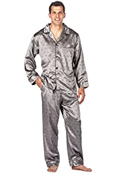 Noble Mount Men's Satin Pajama Sleepwear Set