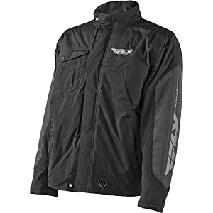 Fly Racing Aurora Men's Winter Sport Snowmobile Jacket - Black/Grey / 2X-Large