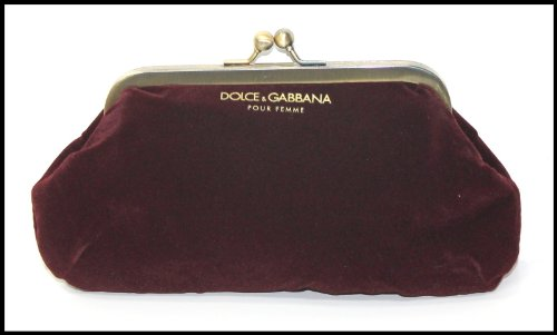 Dolce & Gabbana pour femme - burgundy clutch/purse evening bag