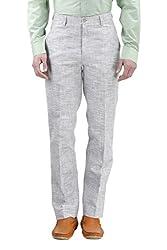 Gazi Men's Khadi Trouser (GFTR06_36, Khadi, 36)