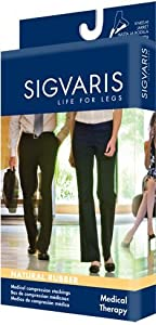 500 Natural Rubber 30-40 mmHg Open Toe Unisex Thigh High Sock with Grip-Top Size: M2 by Sigvaris