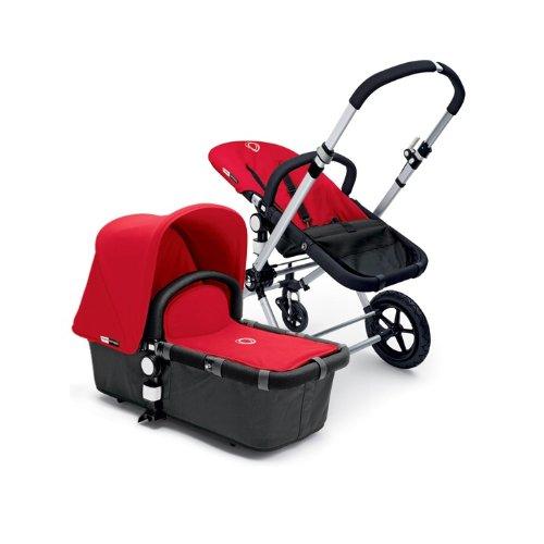 Bugaboo Cameleon Stroller - Dark Grey Base/Red Canvas Tailored Fabric Set