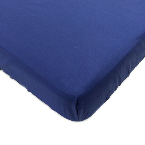 One Grace Place Jazzie Jungle Boy Crib Sheet, Navy Blue