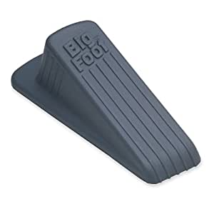 Master Caster Big Foot Office Doorstop, 4.75 x 2.0 x 1.25 Inches, Gray (00941)