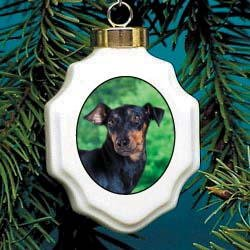 Christmas Ornament: Manchester Terrier