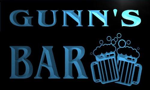 cartel-luminoso-w001476-b-gunn-name-home-bar-pub-beer-mugs-cheers-neon-light-sign