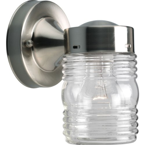 Progress Lighting P5602-09 Powder-Coated Finish Clear Marine Glass, Brushed Nickel
