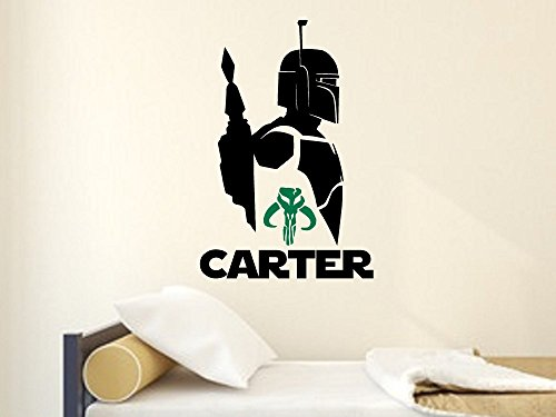 [Star Wars Boba Fett | Personalized Wall Decal (24 x 36 inches)] (Jedi Costume Images)
