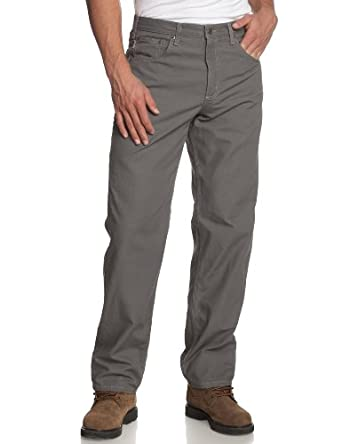 Carhartt Men's  Canvas Carpenter Jean, Charcoal, 30 x 30
