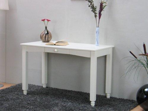 """dynamic24 Schreibtisch """"Lison"""" Bürotisch PC-Tisch Sekretär mit Schublade vanilla lackiert"""