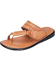 DATZZ Men's Tan Denim Sandals - B018U625JO