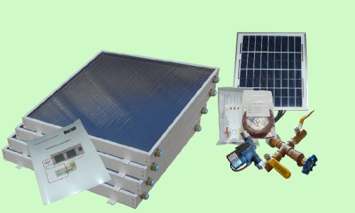 Complete 4 Panel Ez-Connect Hybrid Solar Water Heater Kit