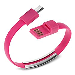 Memore Micro Pink USB Bracelet Cable for Android & Windows Smart Phones