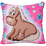 Giftwish Horse Digital Print Pillow For Kid Room Décor- 40 X 40 Cm