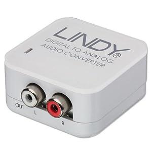 Lindy 70408 Convertisseur audio SPDIF numérique à analogique Noir