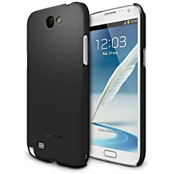 [SF Matte Black] Samsung Galaxy Note 2 Ringke SLIM Soft Feeling Premium Hard Case AT&T Verizon Sprint and Unlocked - Eco Package [REVISED VERSION]
