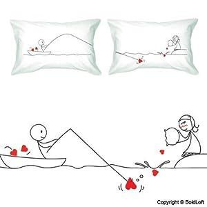 Cute Long Distance Pillow Cases : Amazon.com - BOLDLOFT