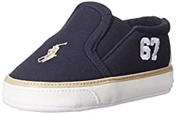 Ralph Lauren Layette Victory Slip On with 87 Logo (Infant/Toddler), Navy, 3 M US Infant