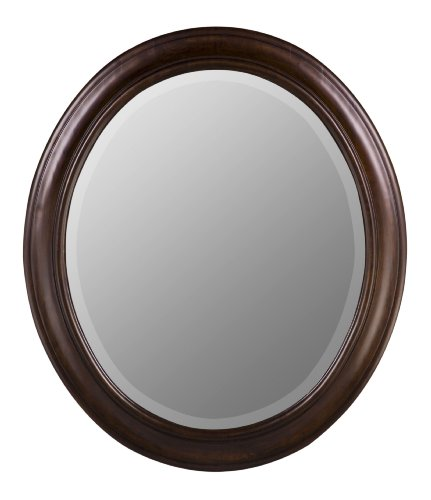 Cooper Classics Chelsea Oval Mirror in Tobacco Finish 5798