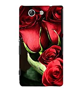 ANIMATED LIPS DESIGN WITH A YELLOW BACKGROUND 3D Hard Polycarbonate Designer Back Case Cover for Sony Xperia Z4 Mini :: Sony Xperia Z4 Compact