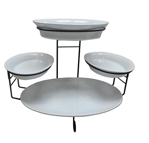Tiered Buffet Server 5-Piece Set (Kitchen Servers And Buffets compare prices)