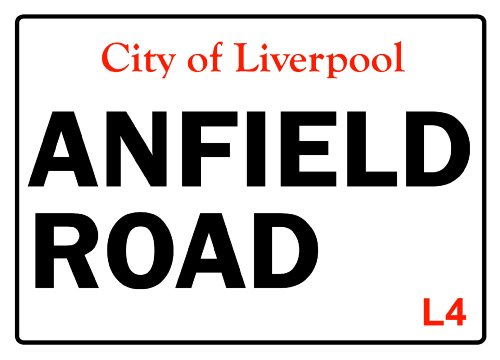 S1292 SMALL CITY OF LIVERPOOL ANFIELD ROAD FUNNY METAL ADVERTISING WALL SIGN RETRO ART