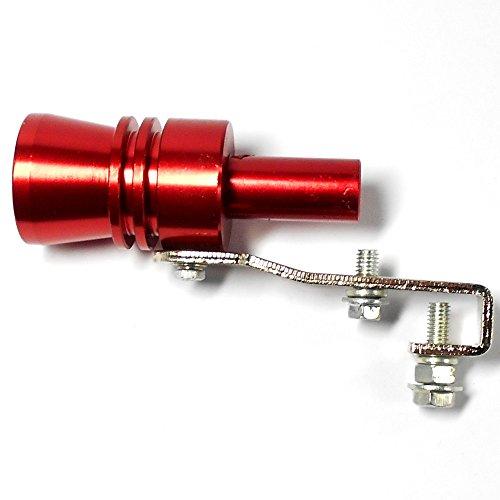 ターボ サウンド ホイッスル マフラー に装着で 排気音をカッコよく 金属製 車の排気量による サイズ バリエーション (赤 XL) Bluemoonhouse