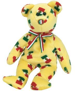 TY Beanie Baby - PINATA the Bear (Mexican Flag Nose)