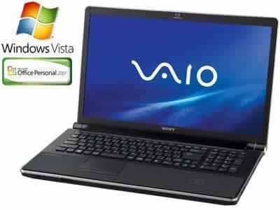 SONY VAIO typeA AW70B/Q フォトエディション Office2007 プレミアムブラック VGN-AW70B/Q