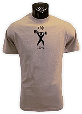 I Lift I Live Bodybuilding / Weightlifting (Sand) T Shirt