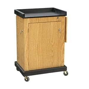 "Oklahoma Sound SCL-OK Smart Cart Lectern, 28"" Width x 41"" Height x 21"" Depth, Light Oak"