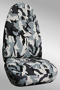 Shear Comfort Custom Isuzu Axiom Seat Covers - REAR SEAT SET: 40/60 Split Folding Bench (2002-2003) - Shear Comfort Camo Military Camo Gray