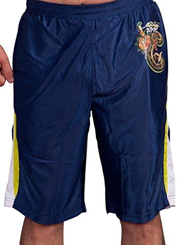 Ed Hardy Mens Sweat Pants Shorts - Blue - Large