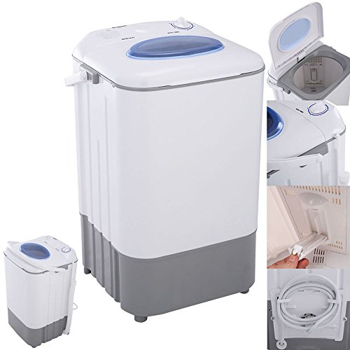 Kissemoji Manual Mini Portable 7.7lbs Washing Machine Washer Compact Single Tub (Washer And Dryer Second Hand compare prices)