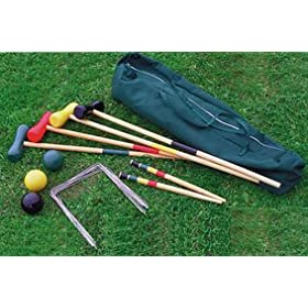 GOOD IDEAS CROQUET SET (309) - Enjoy real english croquet in your garden! REDUCED TO CLEAR.