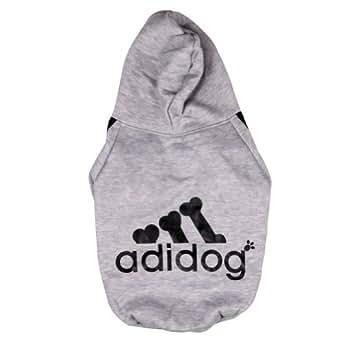 Amazon.com: Manteau / Vêtement Hoodie pour chien Pet Coat (M, GRIS