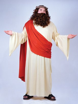 Plus Size Mens Jesus Costume Religious Play theater Costume Christmas Easter