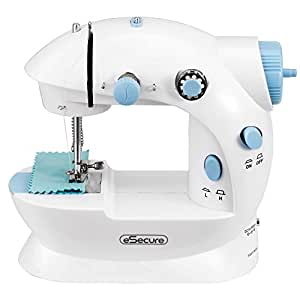 eSecure - Mini Stitch Portable Sewing Machine Handheld + 4x Bobbins + Foot Pedal + Needle & Threader