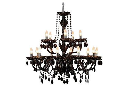 Invicta Interior Karat Design Kronleuchter schwarz 15 flammig schwarz 80 cm